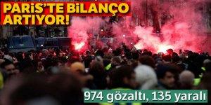 Fransa'da gözaltı sayısı 974'e yükseldi
