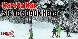 Kars'ta kar, sis ve soğuk hava