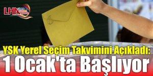 YSK Yerel Seçim Takvimini Açıkladı: 1 Ocak'ta Başlıyor