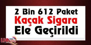 Kağızman'da 2 Bin 612 Paket Kaçak Sigara Ele Geçirildi