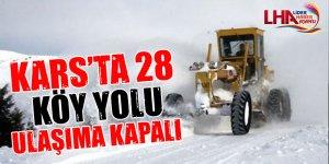Kars'ta 28 Köy Yolu Ulaşıma Kapalı