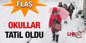 Kars'ta Okullar Tatil Edildi