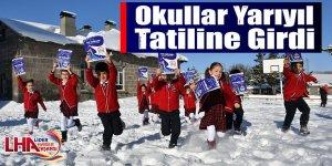 Okullar Yarıyıl Tatiline Girdi