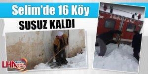 Selim'de 16 Köy Susuz Kaldı