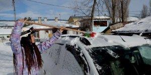Kars'ta Kar Yağışı Hayatı Olumsuz Etkiledi