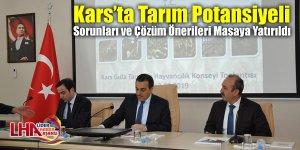 Kars'ta tarım potansiyeli, sorunları ve çözüm önerileri masaya yatırıldı
