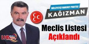 MHP Kağızman Meclis Listesi Açıklandı