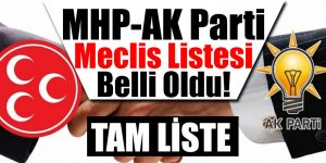MHP MECLİS LİSTESİ BELİ OLDU!