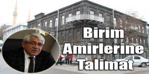 Başkan Karaçanta'dan Birim Amirlerine Talimat