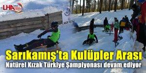 Sarıkamış'ta Kulüpler Arası Natürel Kızak Türkiye Şampiyonası devam ediyor
