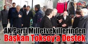 AK Parti Milletvekillerinden Başkan Toksoy'a destek