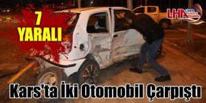 Kars'ta İki Otomobil Çarpıştı: 7 Yaralı