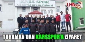 Cumhuriyet Halk Partisi Adayı Toraman'dan Karsspor'a Ziyaret