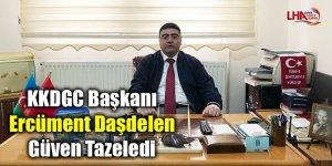 KKDGC Başkanı Ercüment Daşdelen güven tazeledi
