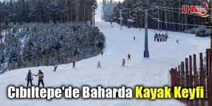 Cıbıltepe'de baharda kayak keyfi