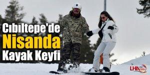 Cıbıltepe'de Nisanda Kayak Keyfi