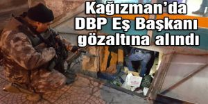 Kağızman'da DBP Eş Başkanı gözaltına alındı