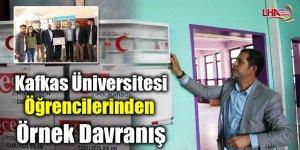 Kafkas Üniversitesi Öğrencilerinden Örnek Davranış