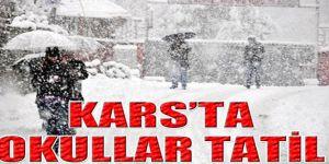 Kars'ta Okullara Kar Tatili