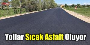Arpaçay'da yollar sıcak asfalt oluyor