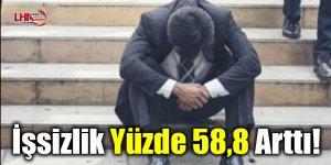 İşsizlik Yüzde 58,8 arttı!