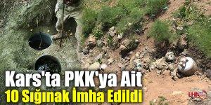 Kars'ta PKK'ya Ait 10 Sığınak İmha Edildi