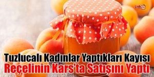 Tuzlucalı kadınlar yaptıkları kayısı reçelinin Kars'ta satışını yaptı