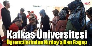Kafkas Üniversitesi Öğrencilerinden Kızılay'a Kan Bağışı