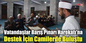 Vatandaşlar Barış Pınarı Harekatı'na Destek İçin Camilerde Buluştu