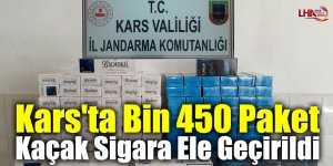 Kars'ta Bin 450 Paket Kaçak Sigara Ele Geçirildi