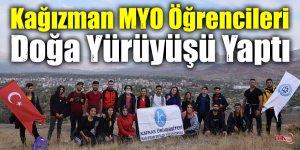 Kağızman MYO Öğrencileri Doğa Yürüyüşü Yaptı