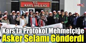 Kars'ta Protokol Mehmetçiğe Asker Selamı Gönderdi