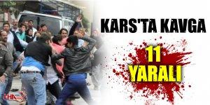 Kars'ta  Kavga 11 Yaralı