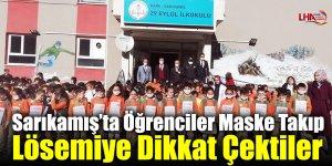 Sarıkamış'ta Öğrenciler Maske Takıp Lösemiye Dikkat Çektiler