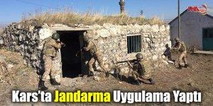 Kars'ta Jandarma Uygulama Yaptı