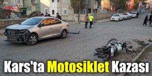 Kars'ta Motosiklet Kazası