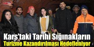 Kars'taki Tarihi Sığınakların Turizme Kazandırılması Hedefleniyor