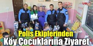 Polis Ekiplerinden Köy Çocuklarına Ziyaret