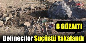 Kağızman'da Defineciler Suçüstü Yakalandı