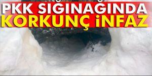 PKK sığınağından infaz çıktı
