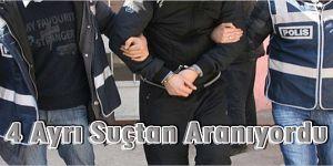 Kars´ta 4 farklı suçtan aranan bir kişi yakalandı.