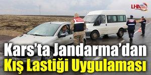 Kars'ta Jandarma'dan Kış Lastiği Uygulaması