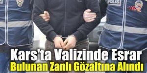 Kars'ta Valizinde Esrar Bulunan Zanlı Gözaltına Alındı