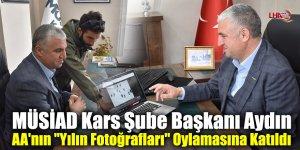 """MÜSİAD Kars Şube Başkanı Aydın AA'nın """"Yılın Fotoğrafları"""" Oylamasına Katıldı"""