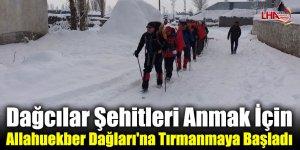 Dağcılar Şehitleri Anmak İçin Allahuekber Dağları'na Tırmanmaya Başladı