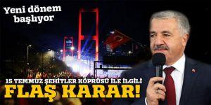 15 Temmuz Şehitler Köprüsü'nde bu yıl serbest geçiş uygulaması başlayacak