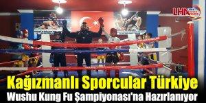 Kağızmanlı Sporcular Türkiye Wushu Kung Fu Şampiyonası'na Hazırlanıyor