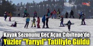 """Kayak Sezonunu Geç Açan Cıbıltepe'de Yüzler """"Yarıyıl"""" Tatiliyle Güldü"""