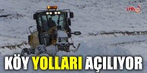 Kars'ta Köy Yolları Açılıyor