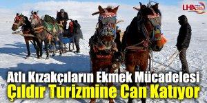 Atlı Kızakçıların Ekmek Mücadelesi Çıldır Turizmine Can Katıyor